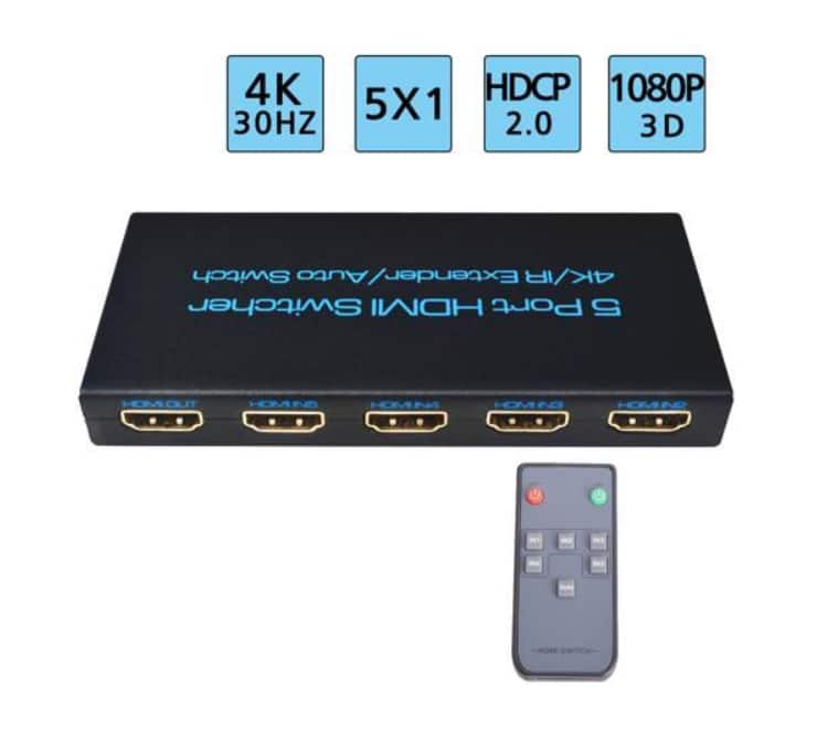 HDMI Switch, Splitter and Audio Extractor 4K@30Hz, 4K@60Hz: Starting at $18.99