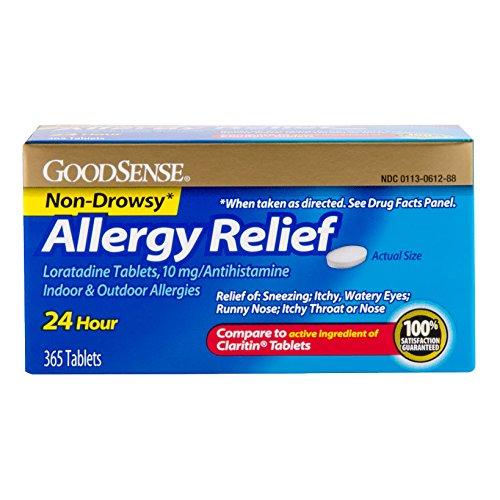 GoodSense Allergy Relief (10mg loratidine / Claritin) $10.44 or less Amazon Prime