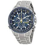 "Citizen Men's AT8020-54L ""Blue Angels"" Stainless Steel Eco-Drive Dress Watch $279.99 Ebay"