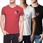 3-Pack: True Religion Mens Cotton World Tour T-Shirts $44.99 f/s