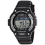 Casio Mens WS220-1A Tough Solar Powered Digital Runners 120-Lap Memory Black Resin Watch $24.99 f/s