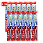 12 Pack - Colgate MaxFresh Full Head Toothbrush with Tongue Freshener (Choice of Soft or Medium) $13.99 f/s