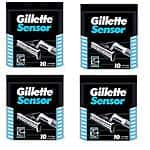 4Pk of 10ct Gillette Sensor Twin Bladed Razor Cartridges made in Germany $39.99 f/s