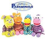 "NWT Set of 4 Jim Henson's Pajanimals Bedtime Small 9"" Plush Toy Dolls by TOMY $18.99 Ebay"
