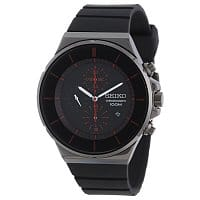 Shnoop Deal: Seiko Men SNDD61 Black Dial Chronograph Polyurethane Strap Watch $64.99 f/s