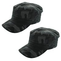 Shnoop Deal: 2-Pack: Totes Isotoner  Military Style Fitted Camouflage Cadet Cap - 100% Cotton $5.99 f/s
