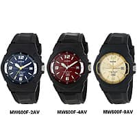 Shnoop Deal: Choice of Casio Mens MW600F 10-Year Battery Sport Black Resin Band 100M Date Watch $11.99 f/s