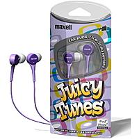 Shnoop Deal: 8 Pack: Maxell Juicy Tunes Stereo Earbuds Headphones $12.99 f/s