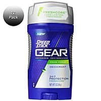 Shnoop Deal: 12 Pack: Speed Stick Gear Advanced Performance Fresh Force Mens Deodorant, 3 oz $25.99 f/s