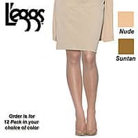 Shnoop Deal: 12 Pairs - L'eggs Everyday Collection Control Top Pantyhose Hosiery (Suntan) $11.99 f/s
