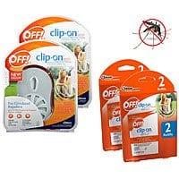 Shnoop Deal: 4-Pack: OFF! Clip-On Fan Odorless Mosquito Repellent and Refills Starter Kit $12.99 f/s