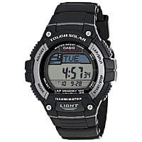 Shnoop Deal: Casio Mens WS220-1A Tough Solar Powered Digital Runners 120-Lap Memory Black Resin Watch $24.99 f/s