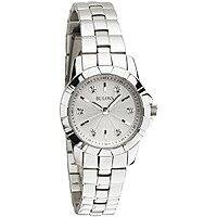 Shnoop Deal: Bulova Women's 96P121 Diamond White Dial Bracelet Watch $74.99 f/s