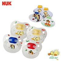 Shnoop Deal: 8 Piece NUK Gerber Little Suzy's Zoo Silicone BPA Free Orthodontic Pacifiers & Clips - Size 2 $7.99 f/s