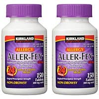Shnoop Deal: 2 Pack: Kirkland Aller-Fex 24 Hour Indoor & Outdoor Allergy Relief 180mg Tablets; 150 ct (Total 300 Tablets) $51.99 f/s