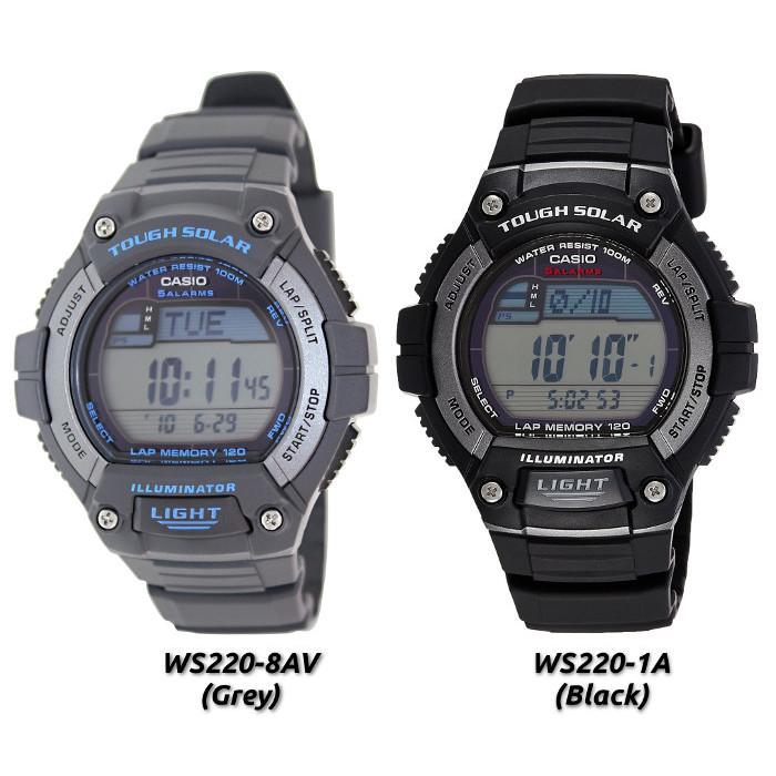 Casio WS220 Men's Solar Powered Digital Sport Watch (Bulk Packaging)  $19.50 + Free Shipping