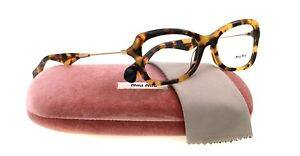 Miu Miu by Prada Women's 0MU 06LV Yellow Havana Eyeglasses Frames Made In Italy $79.99 Ebay