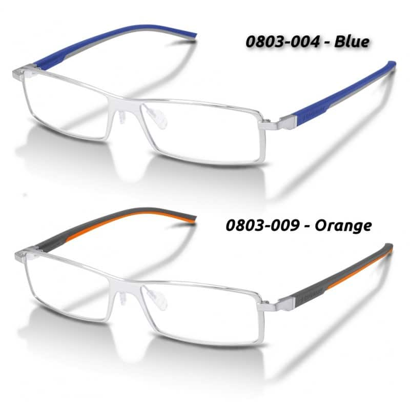 TAG Heuer 0803 Automatic Rimmed Pure Elastomer frame glasses - Rx Ready $81 f/s