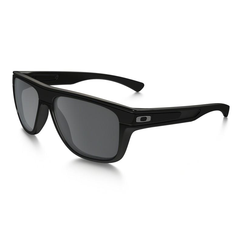 Oakley Mens Breadbox Polished Black w/ Black Iridium Polarized Lens Sport Sunglasses $74.99 f/s