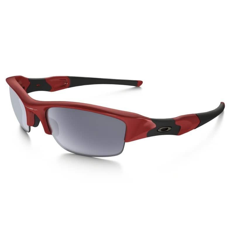 Oakley Flak Jacket Mens Red Gray Sport Sunglasses OO9008 $73.99 f/s
