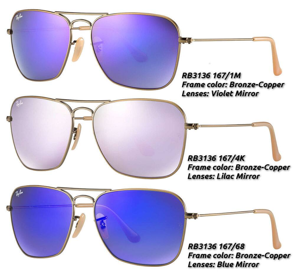 Ray-Ban Caravan Aviator RB3136 w/ Mirrored Lens Unisex Sunglasses -Made In Italy $69.99 Ebay