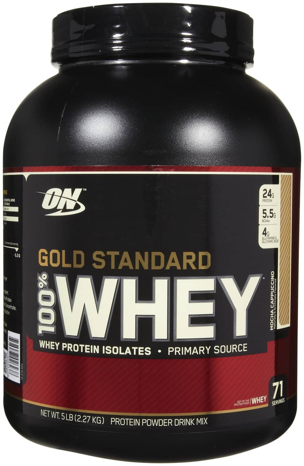 5lb Optimum Nutrition 100% Whey Protein Gold Standard (Mocha Cappuccino) $42.39 FREE SHIP (New Customers)