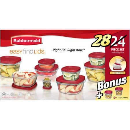 Rubbermaid Easy Find Lids 24-Piece Plus 4 Food Storage Set - 9.97 FREE shipping on orders $50 + FREE pickup