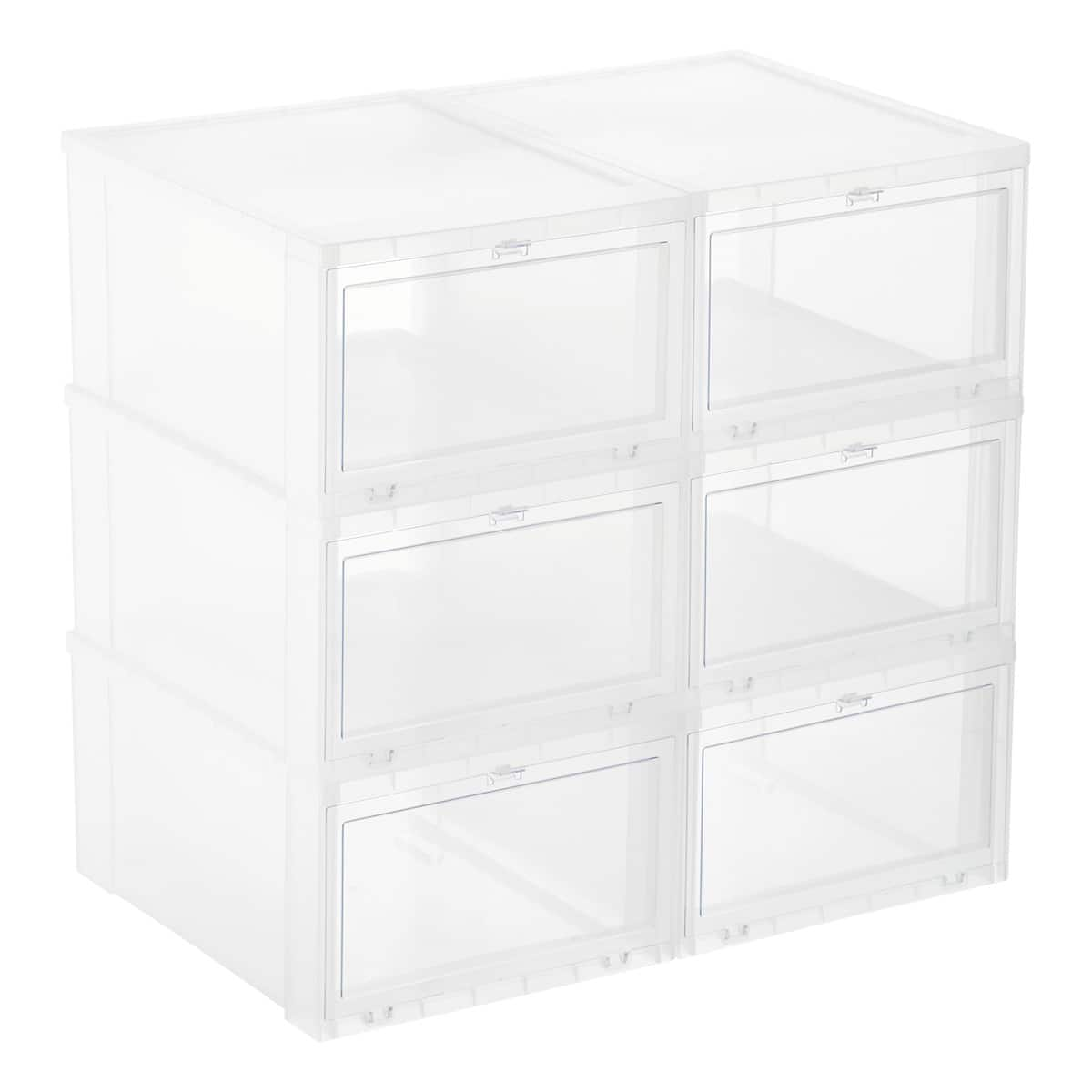 Save 30% off 6 Men's Translucent Drop-Front Shoe Box - $37.80  today only @ The Container Store