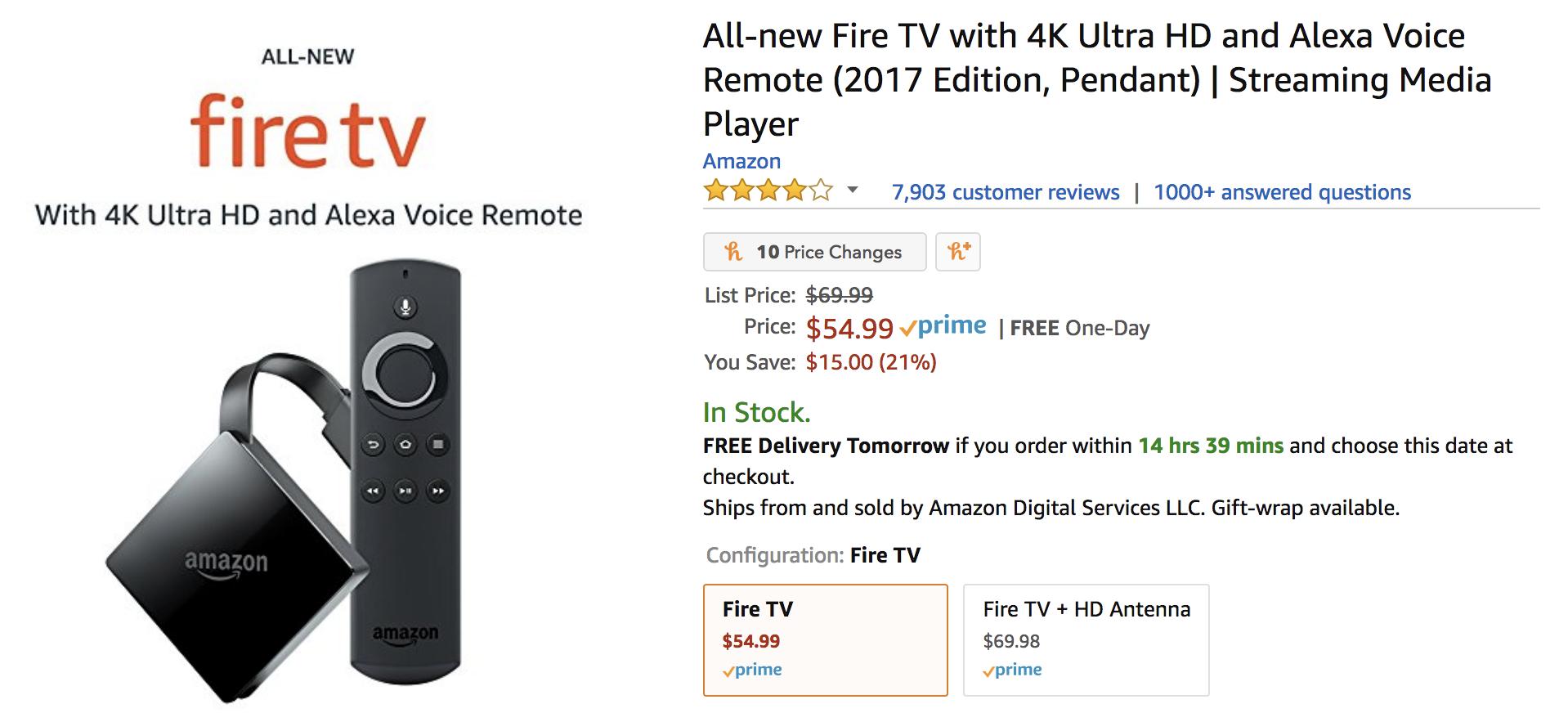 4K Fire TV $15 off thru Superbowl Sunday $54.99