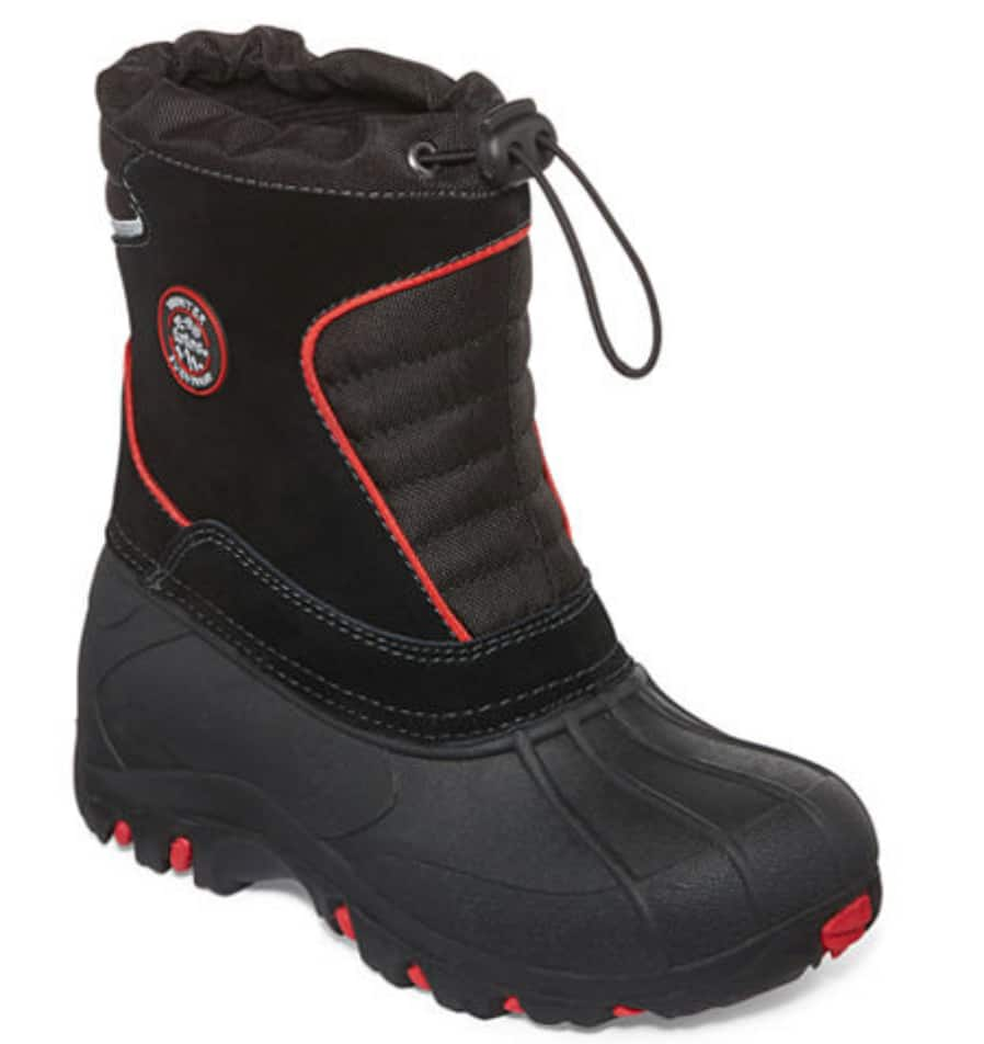 """YMMV: JCPenney Boys """"Totes"""" Winter Boots Sizes 2, 3, 4 $13.99"""