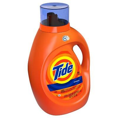 Tide Original Liquid Laundry Detergent - 100 fl oz is 22.97 when you buy 3  with $10 Target gift card and when you clip $3 off coupon from Tide.