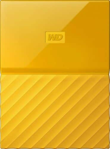 WD - My Passport 2TB External USB 3.0 Portable Hard Drive with Hardware Encryption - Yellow $59