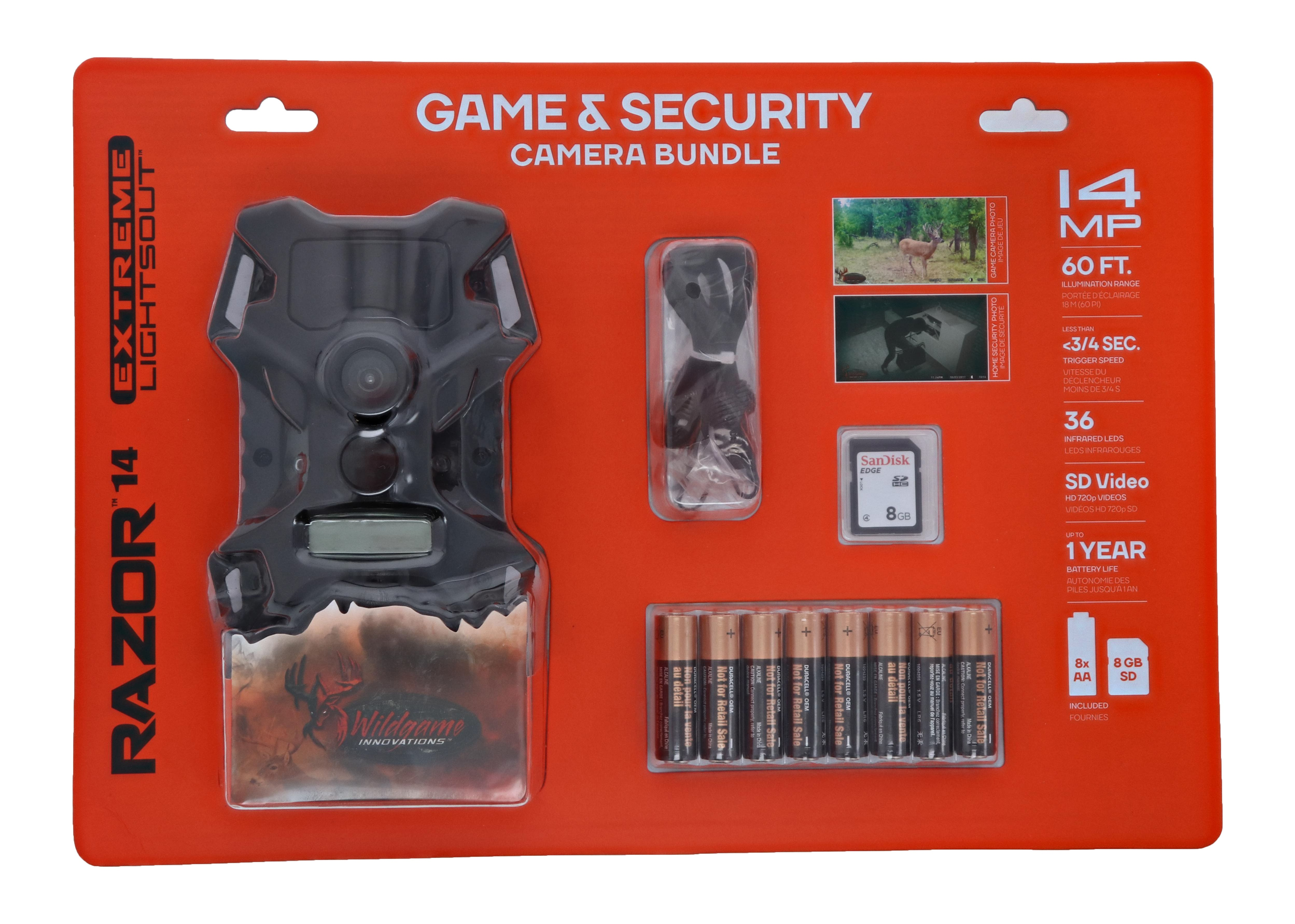 Wildgame Innovations Razor Extreme 14MP Lightsout Game Camera Bundle **Batteries and SD Card Included** $38