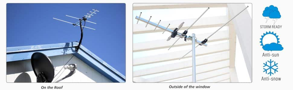 1byone 60 Miles Amplified Outdoor / Attic HDTV Antenna $19.99