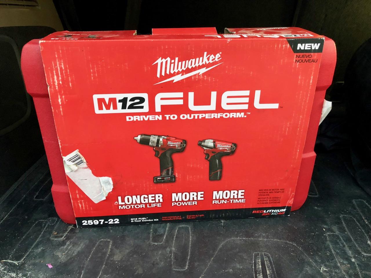 "Milwaukee M12 Fuel 12v Brushless Cordless 1/2"" Hammer Drill & Impact Combo Kit - $135 - Home Depot B&M - YMMV"