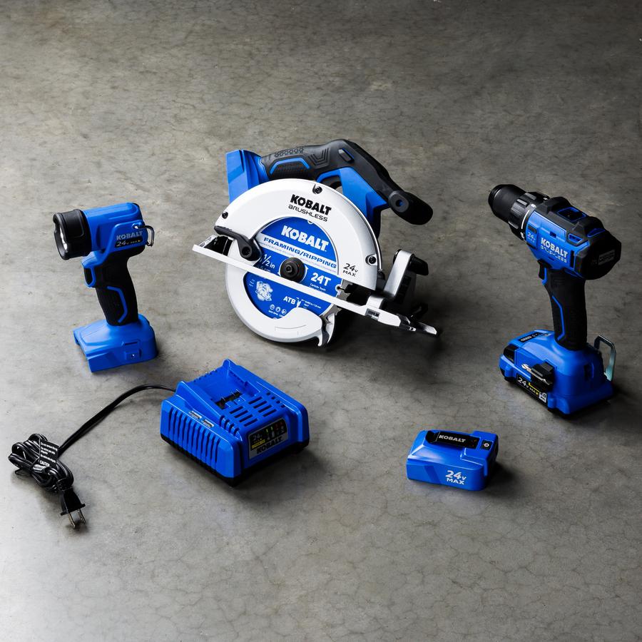 Kobalt 4-Tool 24-Volt Max Lithium Ion Brushless Cordless Combo Kit $99