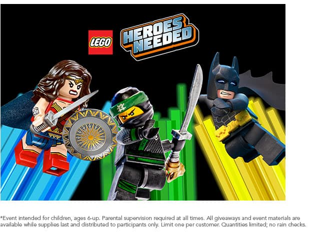 Lego Heroes Needed Build & Play Event - Toys R Us - 2/10 YMMV