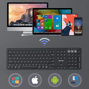 Jelly Comb Rechargeable Multi-Device 2.4G Bluetooth Keyboard $15 $14.99