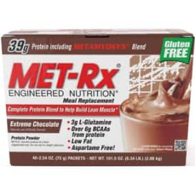 MET-Rx® Original Meal Replacement Extreme Chocolate, 40 count (2.54 ounce packets) - $43.08 after coupon