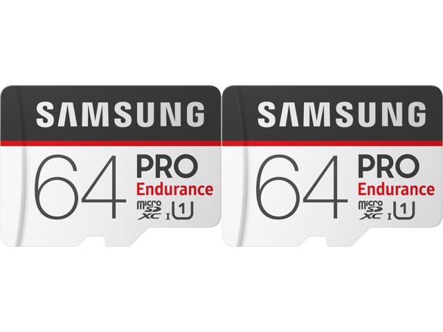 2-Pack 64GB Samsung Pro Endurance U1 microSDXC $21.98