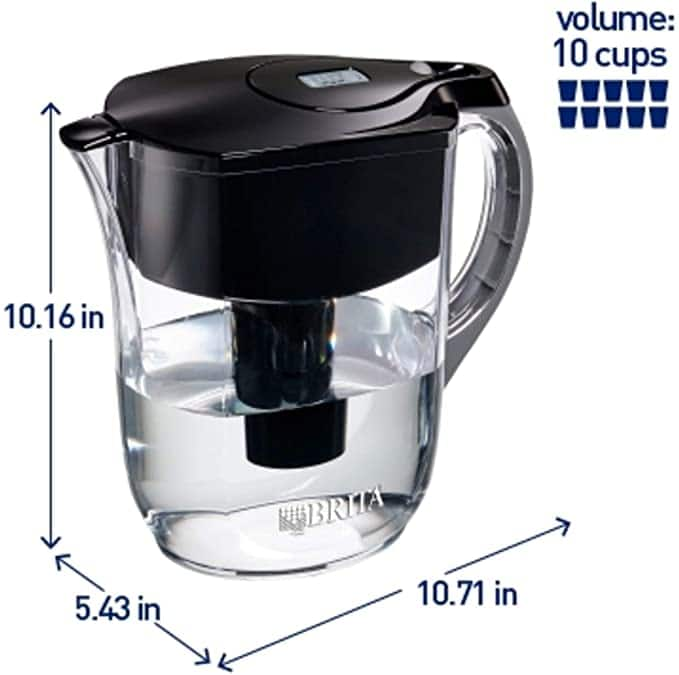 Brita Large 10-Cup Water Filter Pitcher w/Filter $10.99 + Free Shipping w/Prime or $6 shipping