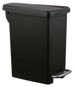 simplehuman Slim Step Trash Can, Black Plastic, 10L / 2.6 Gal $13.49 Amazon Lowest Price