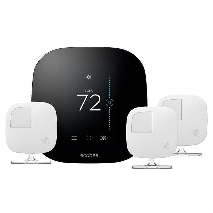 ecobee 3 Smart Thermostat with 3 Room Sensors @ Costco.com free s/h $160
