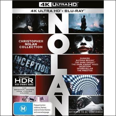 Christopher Nolan 4K Collection (7 Movies) Pre-order $104 at bull moose