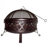 Lowes Deal: Lowes - Garden Treasures 35.4-in W Black Steel Wood-Burning Fire Pit $69 or less with coupons
