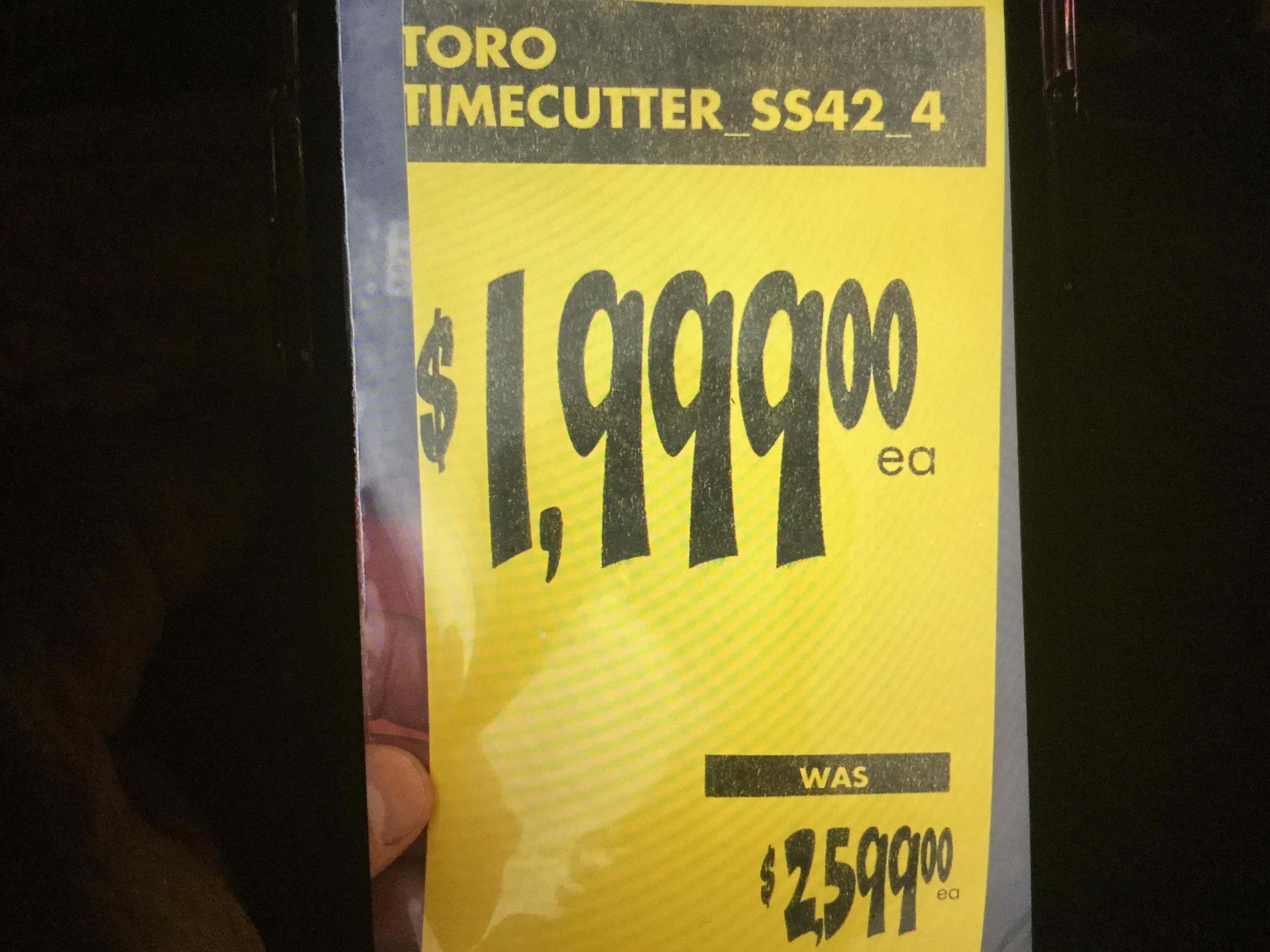 YMMV - Home Depot B&M Toro TimeCutter SS4225 Zero Turn Mower $1999
