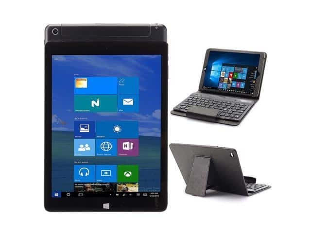 NuVision TM970W510L 9.7 Crystalline HD Windows 32GB WiFi Tablet with Keyboard Case - Black - OEM from NewEggFlash for $70