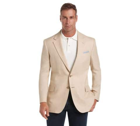 Tropical Blend Regal Fit Mix Weave Sportcoat on clearance for $58.20 + Free shipping at JOSBANK