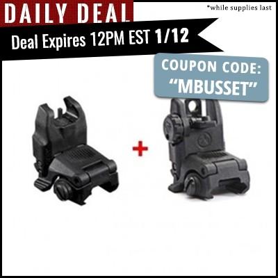 Gun Deal -- PSA: MAGPUL GEN 2 MBUS FRONT & REAR BACK-UP SIGHTS SET -- $49.99 + tax $52.99