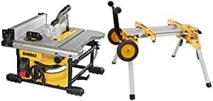 DEWALT Table Saw (DWE7485) with Rolling Stand (DW7440RS) - $359